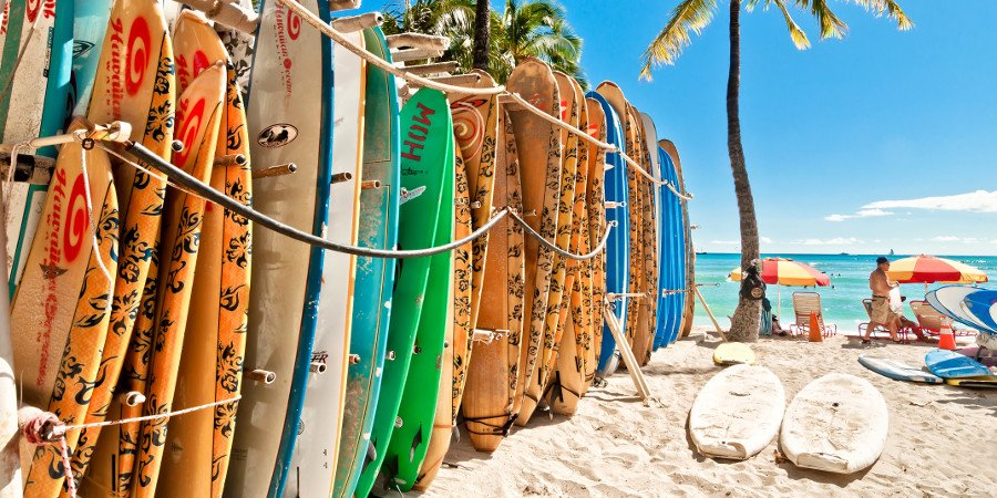 Surf boards a Waikiki (Honolulu)