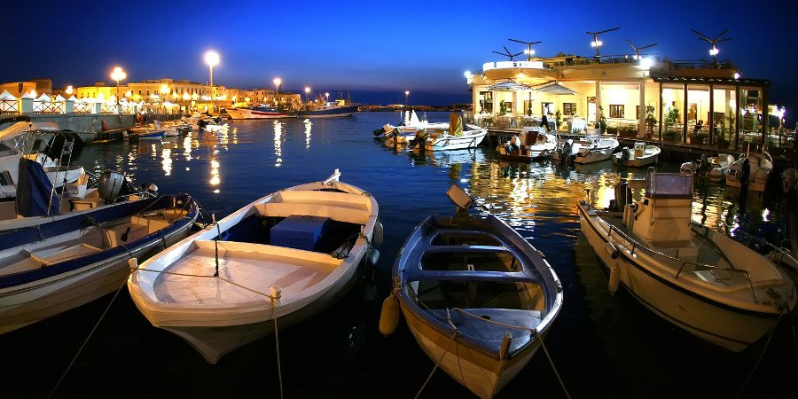 Porto di Gallipoli by night